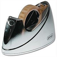 Large Chrome Sellotape Dispenser 25mm x 33m and 66m Rolls