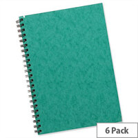 Silvine A5 Notebook Twinwire Sidebound Hardcover Pack 6
