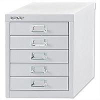 Bisley Multi-Drawer Cabinet 12 inches 5 Drawer Non-Locking Chalk White 12/5