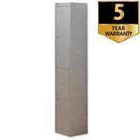 Bisley 2 Door Deep Locker Steel Goose Grey CLK182-73