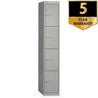 Bisley 4 Door Steel Locker Deep 457mm Goose Grey CLK184-73