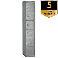 Bisley 6 Door Deep Locker 457mm Steel Goose Grey CLK186-73