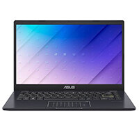 "ASUS E410MA BV003TS - Lay-flat design - Celeron N4020 / 1.1 GHz - Win 10 Home in S mode - 4 GB RAM - 64 GB eMMC - 14"" 1366 x 768 (HD) - UHD Graphics 600 - Wi-Fi, Bluetooth - black (bottom), black (top), peacock blue (LCD cover)"