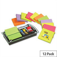 Post-it Note Value Pack 3x3 DS100-VP Pack 12 and Free Dispenser