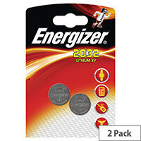 Energizer CR2032 Button Cell Batteries, Lithium Battery, 3Volt, 240 mAh, 8Year Battery Life, Suitable for Temperature -30 +60 Degrees (Pack of 2)