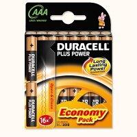 Duracell Plus Power - Alkaline Battery AAA Pack of 16 81275415 DU01975