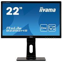 "iiyama ProLite B2282HS-B5 - LED monitor - 22"" (21.5"" viewable) - 1920 x 1080 Full HD (1080p) @ 75 Hz - TN - 250 cd/m² - 1000:1 - 1 ms - HDMI, DVI, VGA - speakers - black, matte"
