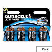 Duracell Ultra Power AA Alkaline 1.5V  Batteries (8 Pack) 75051925