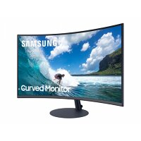 Samsung C32T550FDR T55 Series - Curved LCD Monitors - 32'' - 1920 x 1080 Full HD (1080p) - HDMI, VGA, DisplayPort - Speakers - Gaming Monitor - Colour: Grey/Blue