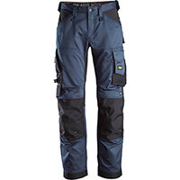 Snickers 6351 AllroundWork Stretch Loose fit Work Trousers Navy - Black Size 100 (W35xL30inch)