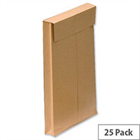 New Guardian Gusset C4 Envelopes 130gsm Manilla Peel and Seal Pack of 25