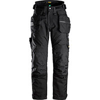 Snickers 6580 FlexiWork, GORE-TEX 37.5® Insulated Trousers+ Holster Pockets Black Size: XSshort