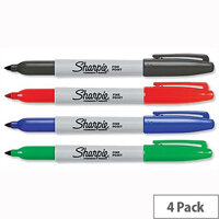 Sharpie Permanent Marker Fine Assorted Pack 4