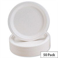 Caterpack Super Rigid 9inch Biodegradable Plates (50 Pack) 3864