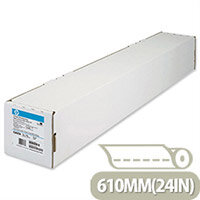 HP Bright White Inkjet Plotter Paper 610x45mm 90gsm Ref C6035A