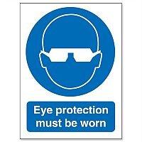 Stewart Superior Eye Protection Must Be Worn Self Adhesive Vinyl Sign