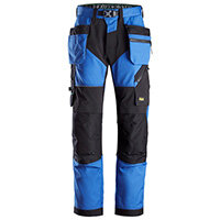 Snickers 6902 FlexiWork Work Trousers With Holster Pockets Size 192 (W31xL28inch) True Blue & Black