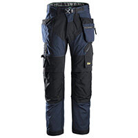 Snickers 6902 FlexiWork Work Trousers With Holster Pockets Size 192 (W31xL28inch) Navy & Black