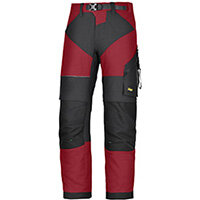 """Snickers 6903 FlexiWork Trousers Chill Red - Black W44"""" L32"""" Size 60 WW1"""