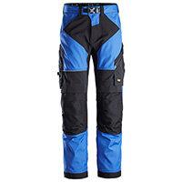 Snickers 6903 FlexiWork Work Trousers Plus Size 192 (W31xL28inch) True Blue & Black