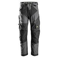 Snickers 6903 FlexiWork Work Trousers Plus Size 192 (W31xL28inch) Steel Grey & Black