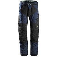 Snickers 6903 FlexiWork Work Trousers Plus Size 192 (W31xL28inch) Navy & Black