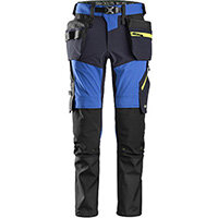 Snickers 6940 FlexiWork Softshell Stretch Trousers+ Holster Pockets True Blue - Navy Size 88 (W30xL30inch)