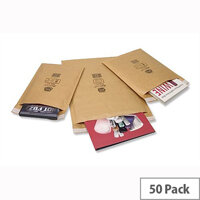 Jiffy AirKraft Size 4 Bubble Lined 240x320mm Gold Bag 50 Pack