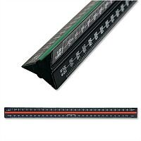 Linex Scale Ruler Triangular Aluminium Colour-coded Scales 1-1 to 1-2500