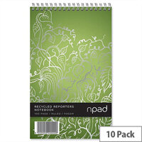Oxford npad Shorthand Notebook Ruled Margin 120 Pages 125x200mm Pack 10
