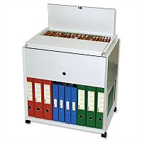 Large Universal Filing Trolley Steel Capacity 120 A4 or Foolscap Files Grey Rotadex