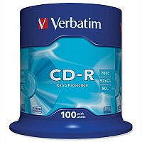 Verbatim CD-R Recordable Disc on Spindle  Pack 100