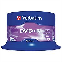 Verbatim DVD+R Recordable Disk Write-once Spindle Pack 50