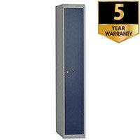 Bisley Deep Steel Locker 1 Door Goose Grey Blue