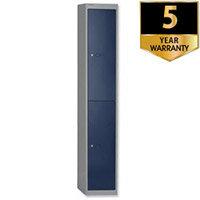 Bisley 2 Door Locker Steel Goose Grey-Blue CLK122-7339