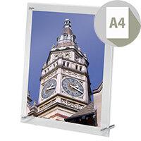 Deflecto Wall Sign Display Holder Bevelled Edge Acrylic 216x279mm