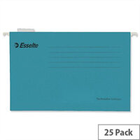 Esselte Pendaflex Economy Suspension File Foolscap Blue Pk 25 90334