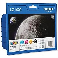 Brother LC1000 4 Colour Value Pack Ink Cartridges LC-1000BK/C/M/Y