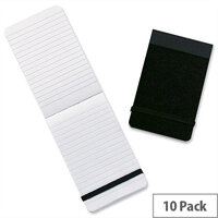 Summit 76x127mm Casebound Notebook Elastic Band Ruled 160 Pages Pack 10