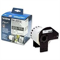 Brother DK22212 Label Continuous Film 62mm x 15.24m White