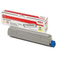 OKI 43487709 Yellow Toner Cartridge for C8600 C8800