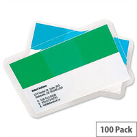 GBC Business Card Laminating Pouches - 60mm x 90mm, Adheres To ID Images Reducing Forgery & Substitution Risk, Supplied In Pack Of 100. Ideal For Use In Offices, Homes, Schools & More.