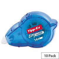 Tipp-Ex Easy Refill Correction Tape Roller 5mmx14m Pack 10 Ref 879424