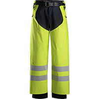 Snickers 8269 ProtecWork Rain Chaps PU High-Vis Class 2 High Visibility Yellow - Size: L Long