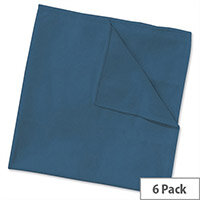 Wypall Microfibre Cleaning Cloths for Dry or Damp Multisurface Use Blue Ref 8395 Pack 6 840904