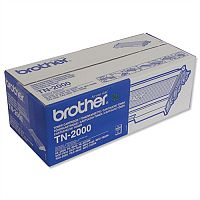 Brother TN-2000 Black Toner Cartridge TN2000 - Prints 2,500 pages - High quality genuine Brother cartridge - Prevents waste to save you paper, time and money