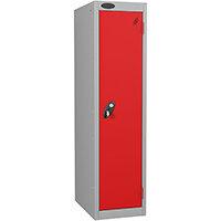 Probe 1 Door Low Locker Hasp & Staple Lock ACTIVECOAT W305xD305xH1220mm Silver Red