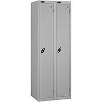 Probe 1 Door Locker ACTIVECOAT W305xD305xH1780mm Nest of 2 Silver Body & Doors By Lion Steel