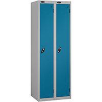 Probe 1 Door Locker ACTIVECOAT W305xD305xH1780mm Nest of 2 Silver Body & Blue Doors By Lion Steel