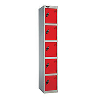 Probe 5 Door Locker ACTIVECOAT W305xD305xH1780mm Silver Body Red Doors
